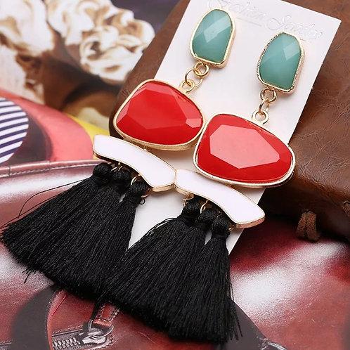 Yazmine Earring (Red Multi)