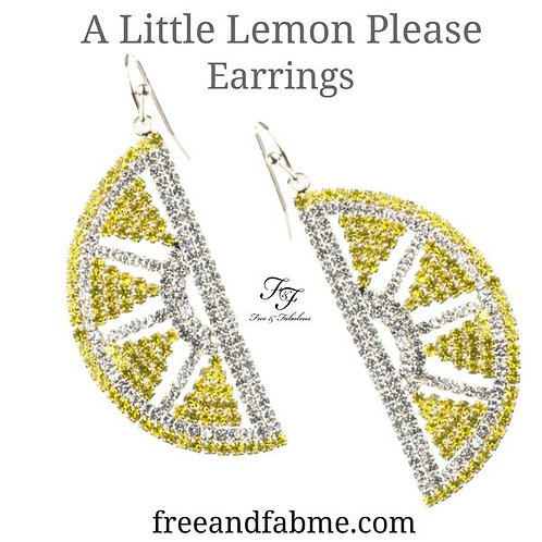 A Little Lemon Please Earrings