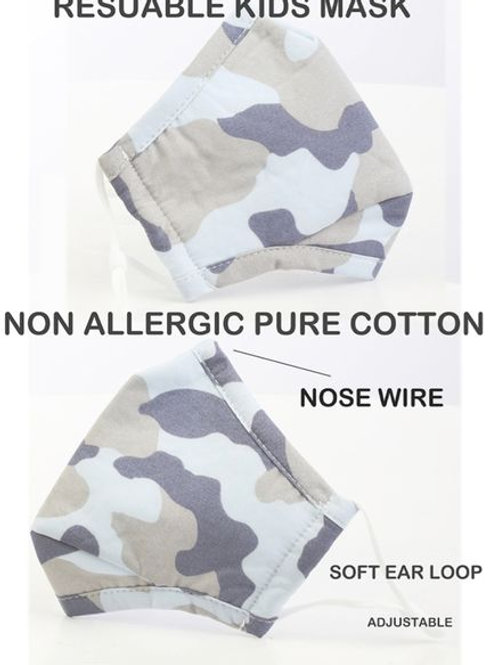 Child Fatigue Mask (White and grey)