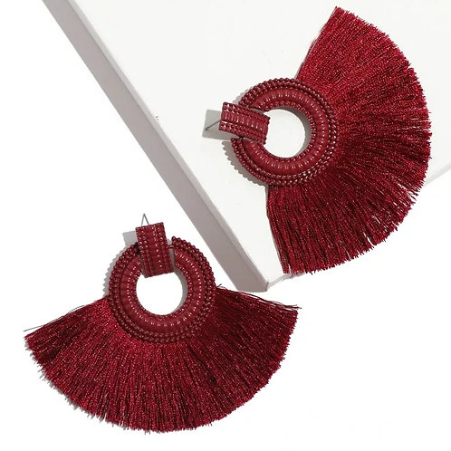 Savannah Earrings ( Small Dark Red)