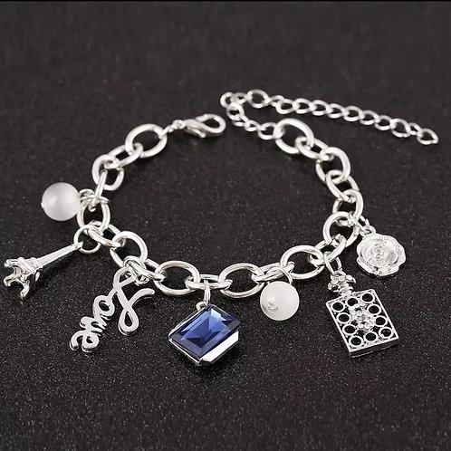 Pretty Posh Charm Bracelet- Silver