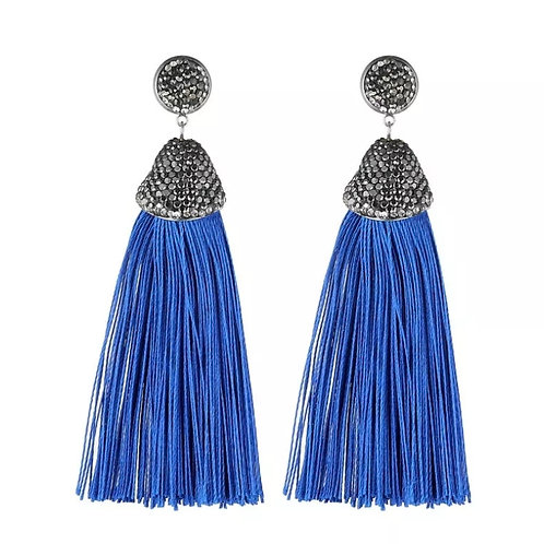 Kamora Earrings (Cobalt Blue)