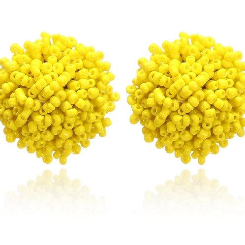 Dew Drops Studs  (Yellow)