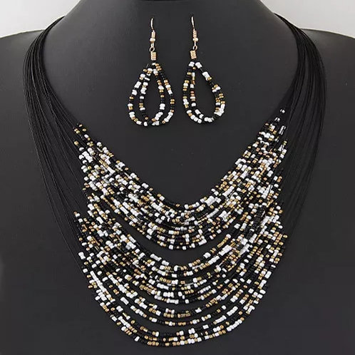 The Torry (black multi) Necklace