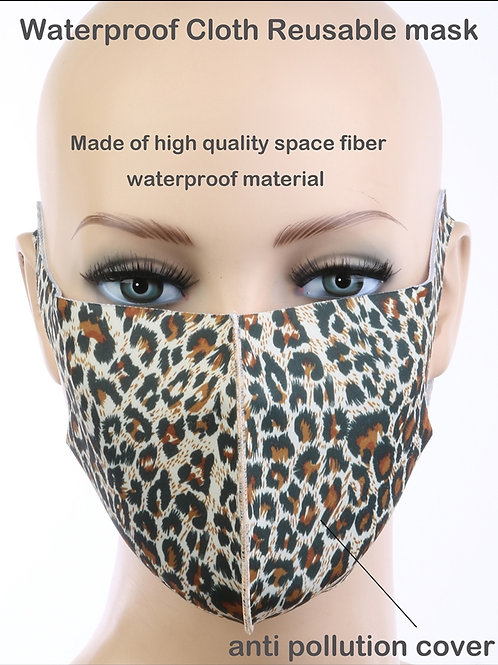 Leopard Sneeze Guard Mask