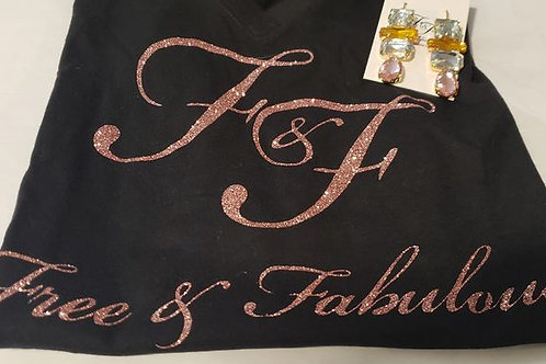 F&F Rose Gold and Black Tee