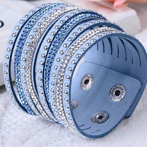 Bling Baby Wrist Band (Baby Blue)
