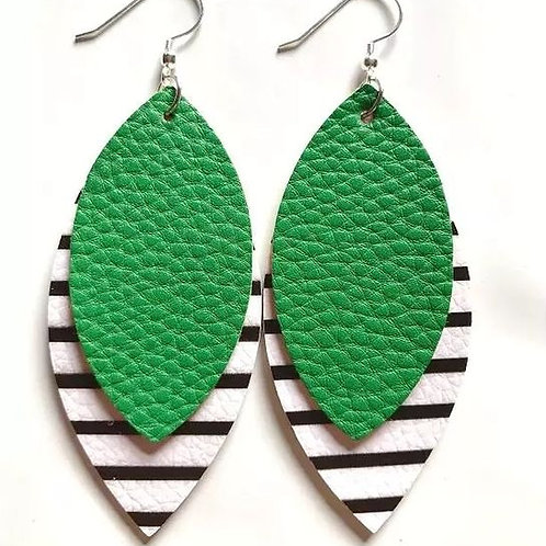 Straight To The Point Earrings (Green)