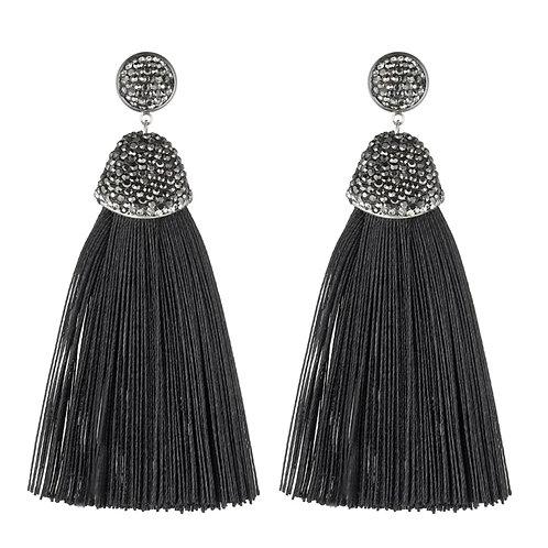Kamora Black Earrings