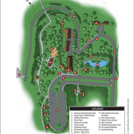 Mt Morris Dam Visitor Center, site-plan diagram