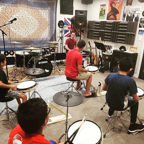 Six Weeks Virtual Group Drum Lessons