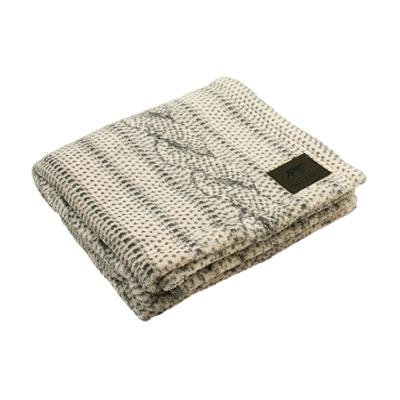 Cable Knit Print Dog Blanket