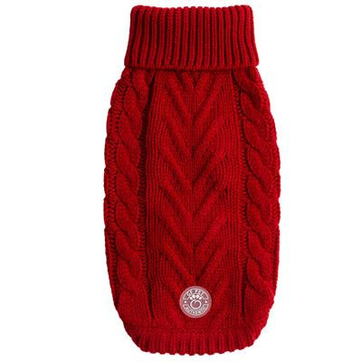 Pet Chalet Sweater with Turtleneck & Cable Knit