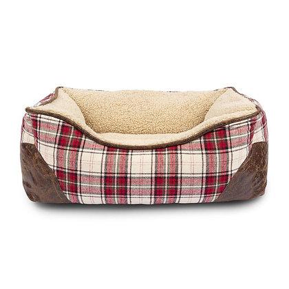 Cabin Plaid Cuddler Bed