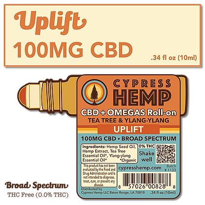 Uplift 100mg CBD Roll-On