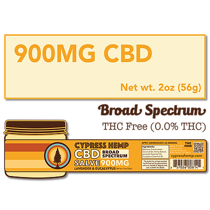 900mg Broad Spectrum CBD  Salve
