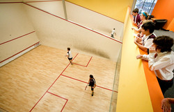 Girl Playing Squash