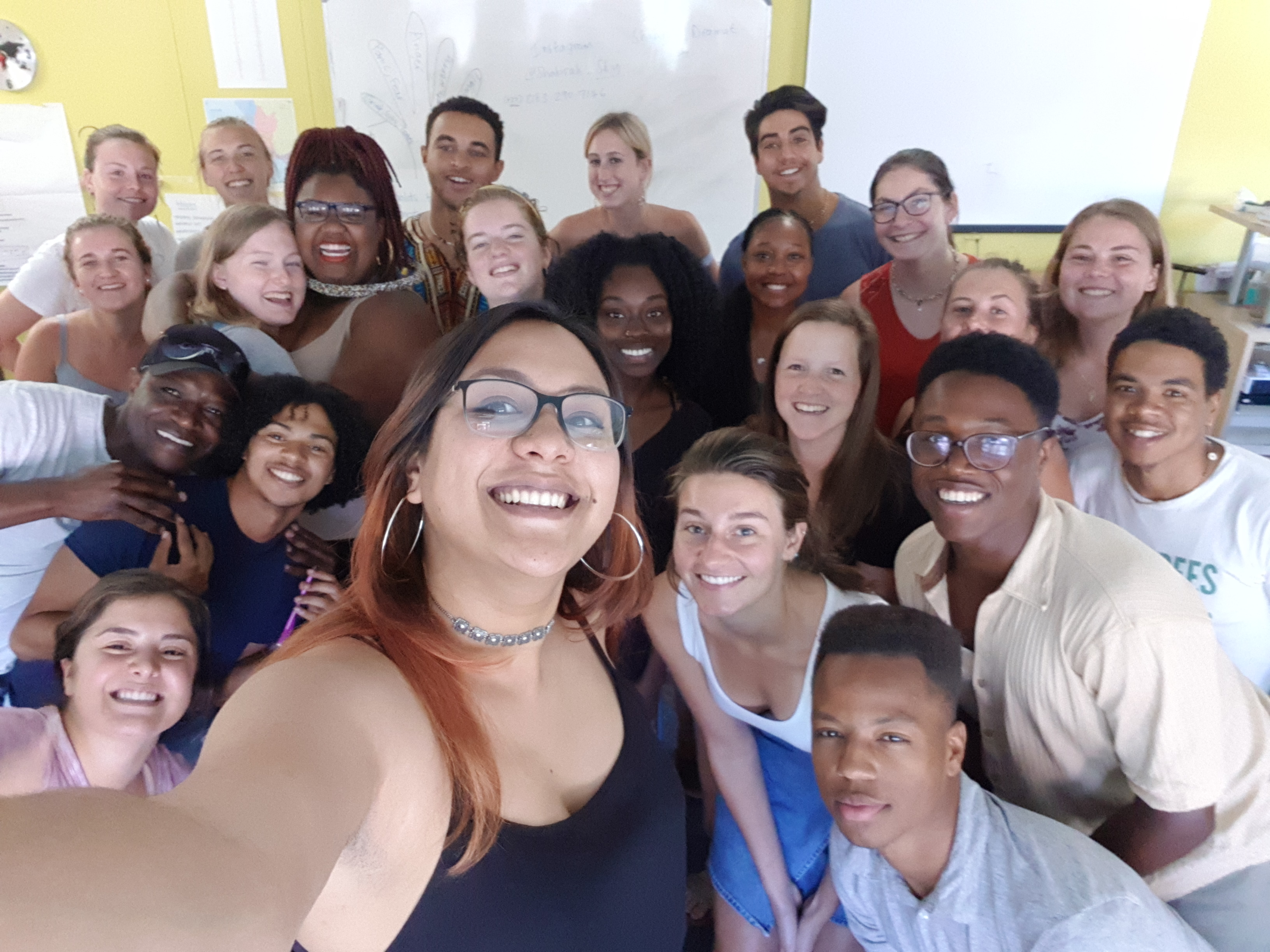 Post guest-lecture selfie with students from across the world, in SA on an exchange programme