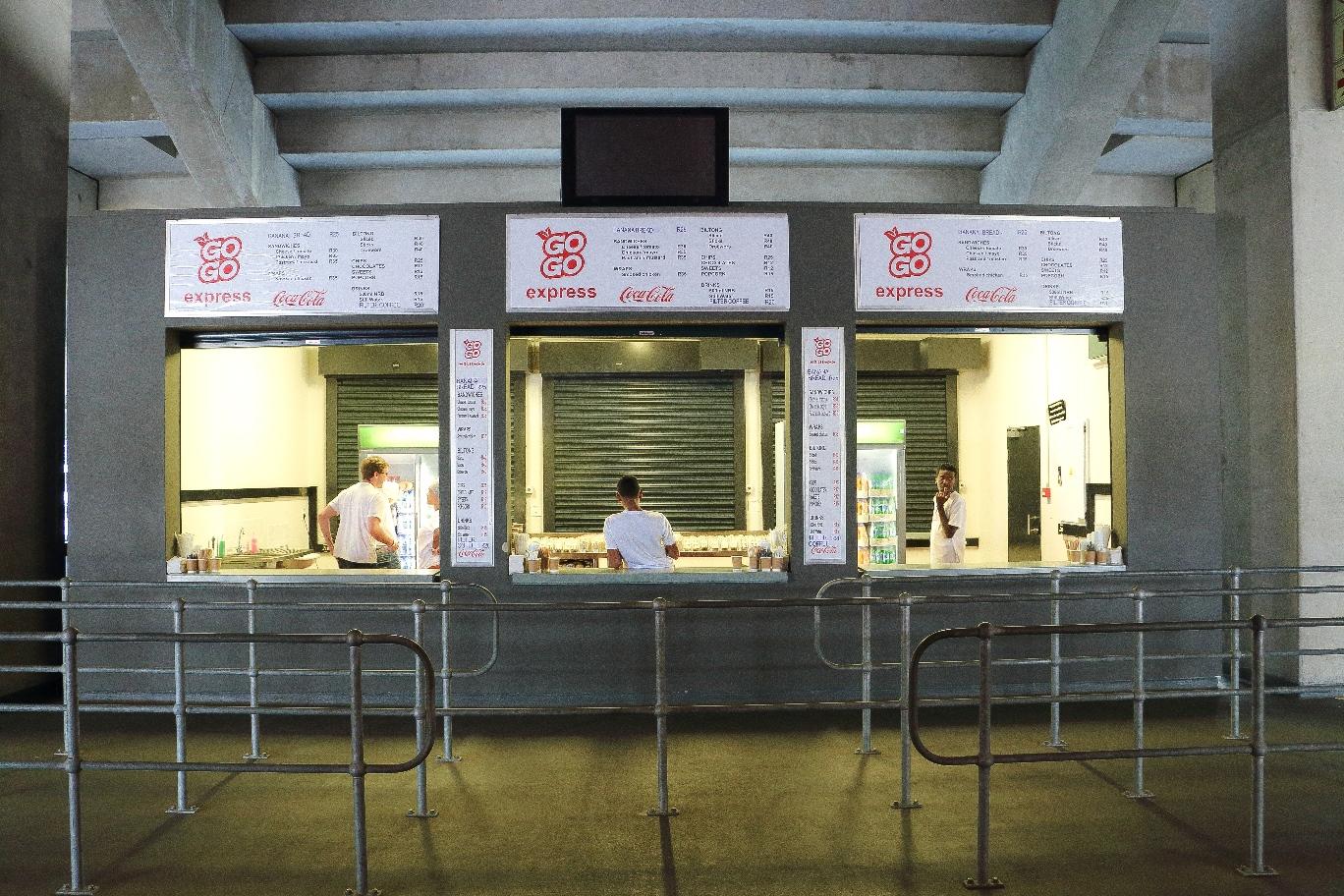 Kiosk inside Green Point stadium