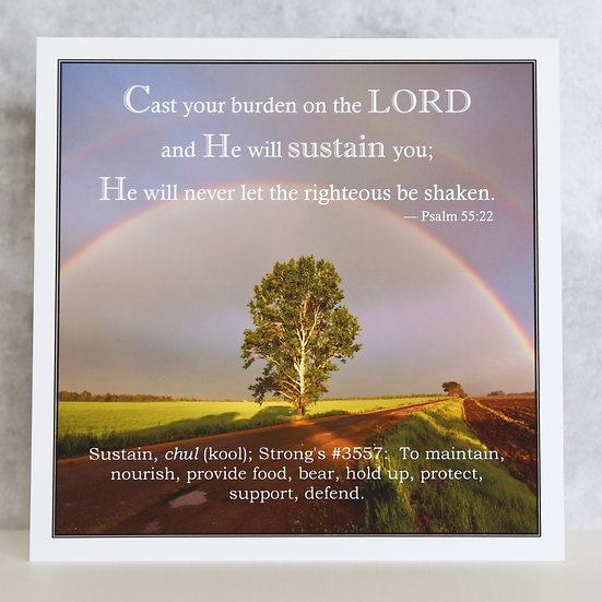 Cast your burden on the Lord!