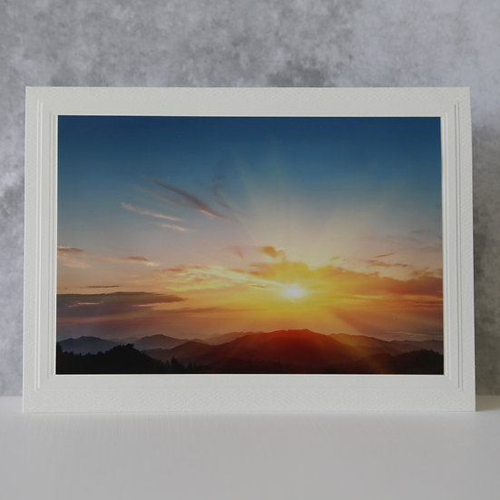 Sunrise over the Mountain Range