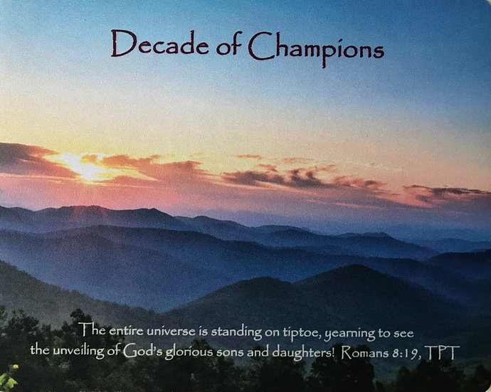 """""""Decade of Champions"""" Mouse Pad"""