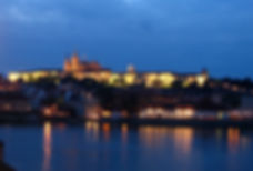 Prague Castle at twilight