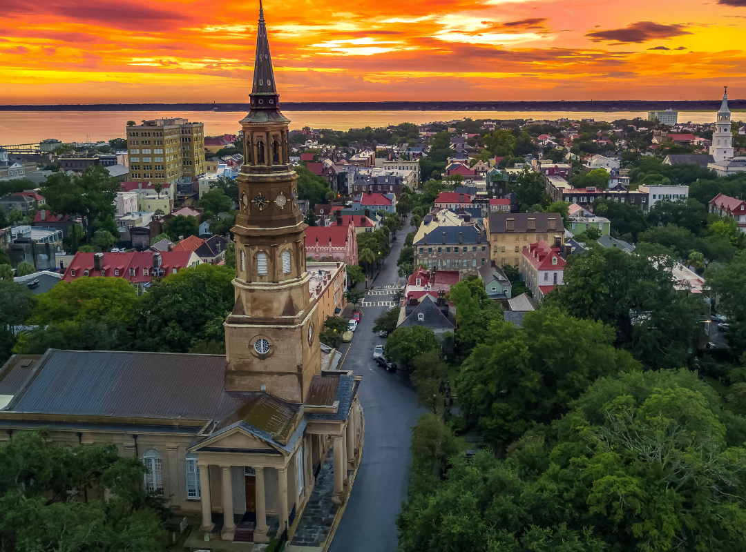 Enjoy rooftop views you won't believe full of church steeples and cotton candy sunsets.