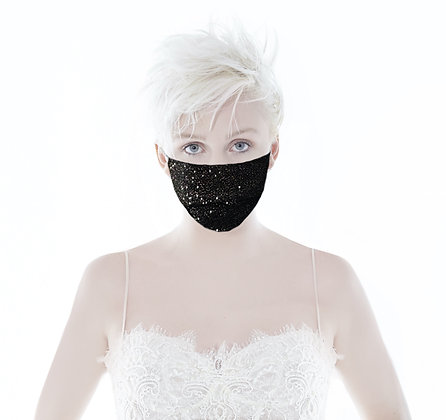Black Sparkle Mask- Limited Edition