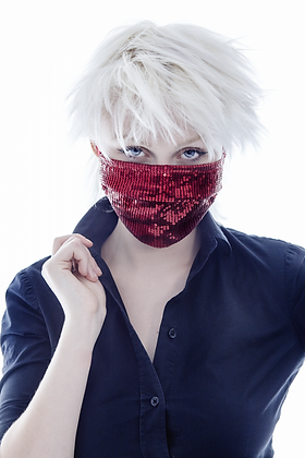 Red Sequin Mask- Limited Edition