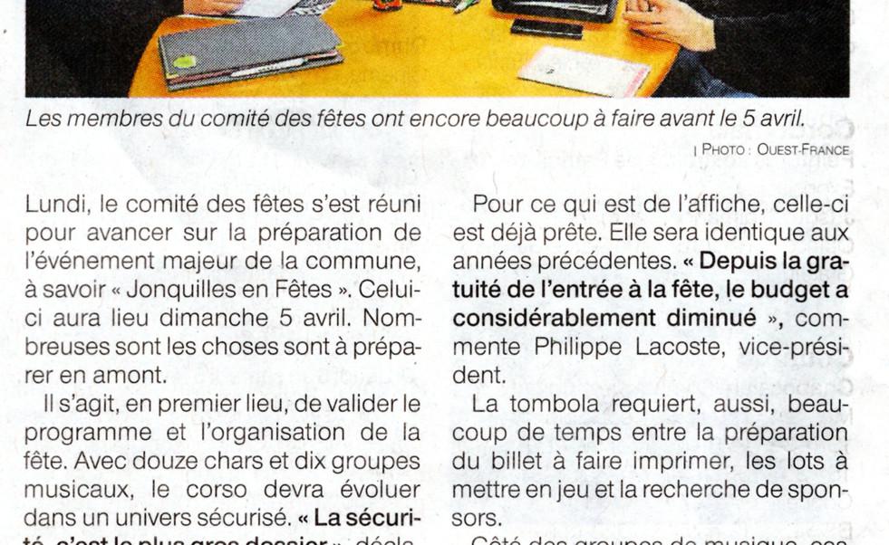 Article dans Ouest-France du 31 janvier 2020