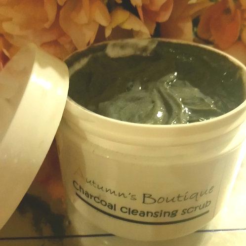 Charcoal cleansing scrub