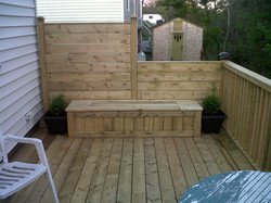 Deck with Storage Box Seating