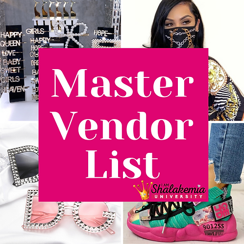 IamShalakemia University Master Vendor List (100)