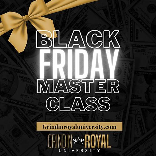 Black Friday Masterclass