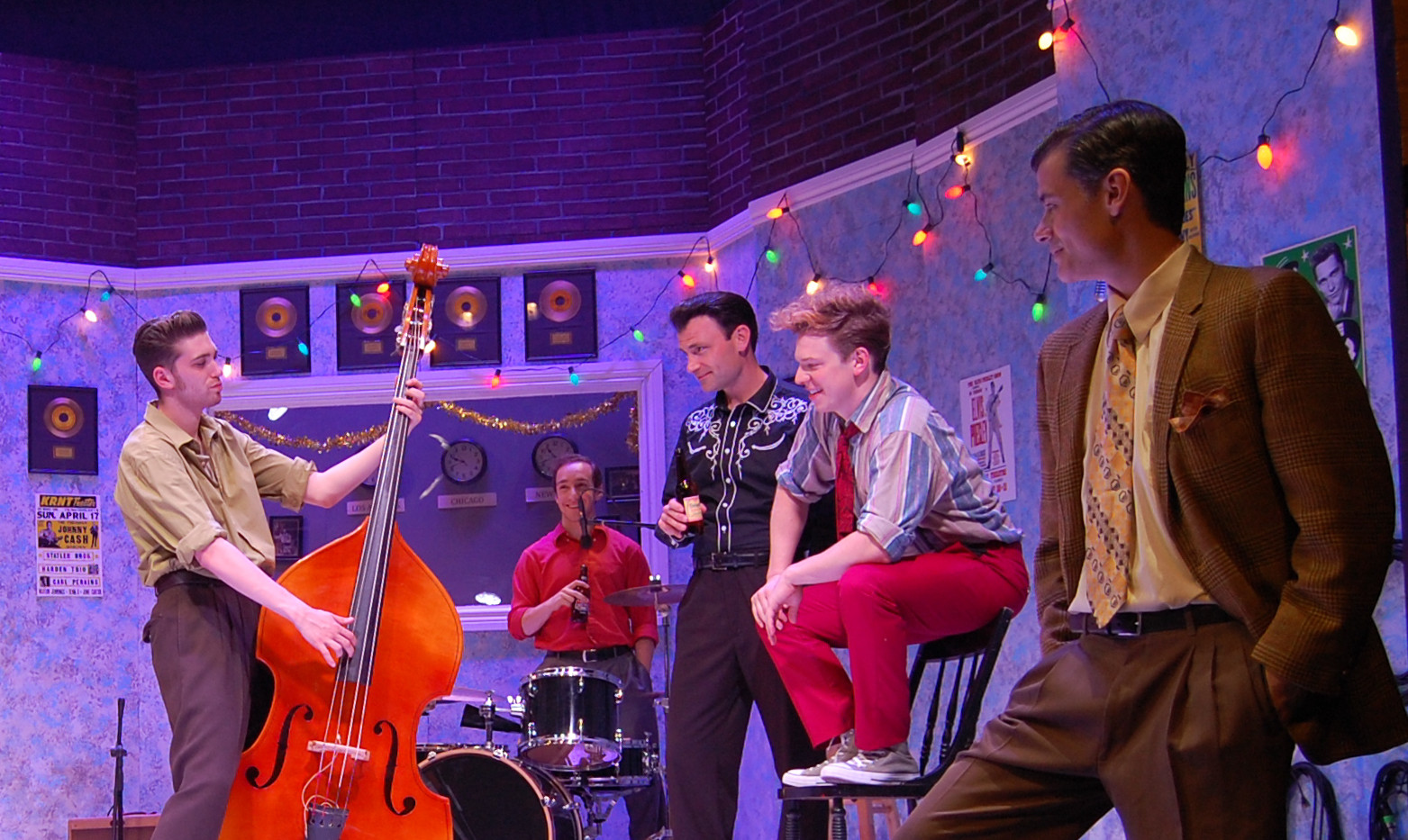 "Matt as W.S. ""Fluke"" Holland (rear) in Million Dollar Quartet"