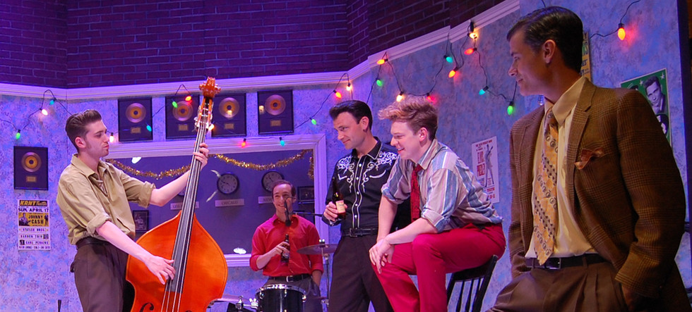 "Matt as W.S. ""Fluke"" Holland (rear) in Million Dollar Quartet"