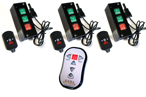 PB3-REMOTE-X3 Remote Control System for 3 Doors