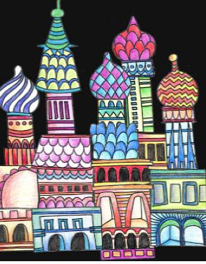 FAR AWAY CITIES  mixed media canvas    MON-28 JUNE : PM