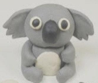 CUTE  KOALA- 3D       painted air dry clay   FRI 2 OCT