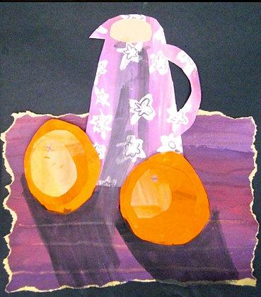 CEZANNE STILL-LIFE      mixed-media canvas     WEDNESDAY 20 JAN