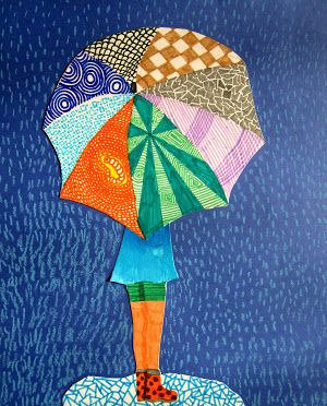 STAND IN THE RAIN mixed media canvas 7+ FRI-09 JULY : AM