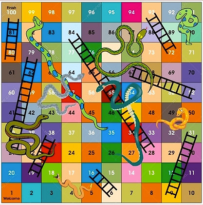 SNAKES & LADDERS  make a board game WED-30 JUNE : AM