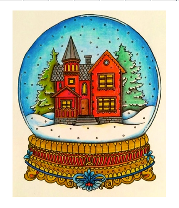 SNOW GLOBE  watercolour on paper  TUES-06 JULY : AM