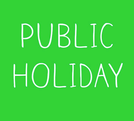 -PUBLIC HOLIDAY-     class cancelled    MONDAY 5 OCT