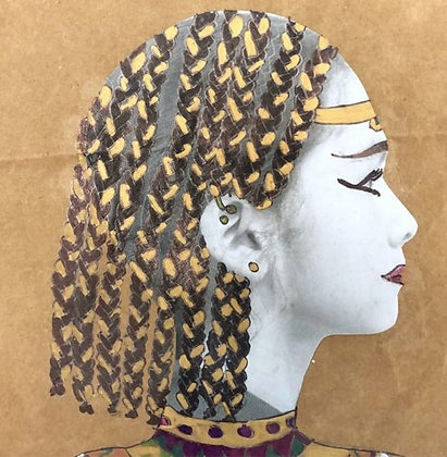 EGYPTIAN PROFILE      mixed media canvas        MON 18 JAN AGE 7+