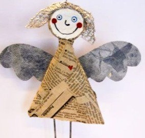 ANGEL/SNOWMAN      3D paper mache         WEDNESDAY 16 DEC