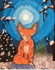 MOOLIGHT ANIMAL acrylic on canvas   WED-07 JULY : PM
