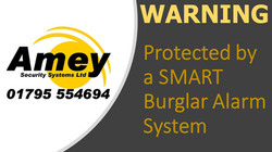 Protected by a SMART Burglar Alarm Syste