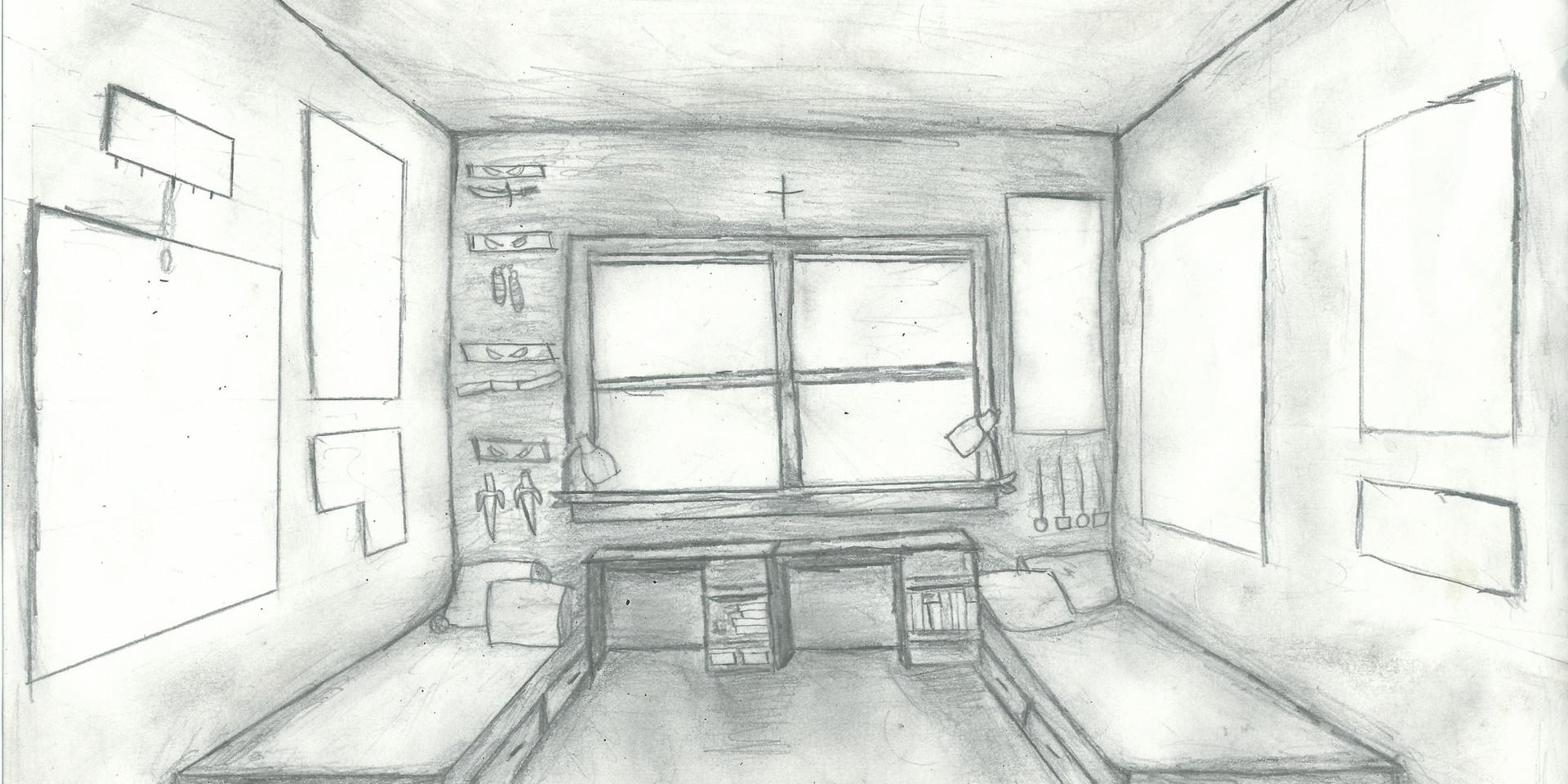Perspective Study - Bedroom